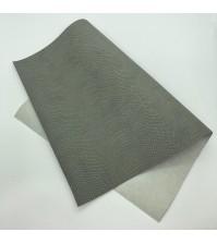 Кожзам с тиснением под питона, цвет темно-серый, арт. 411145