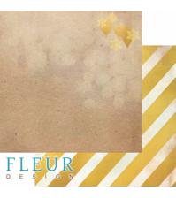 Лист бумаги для скрапбукинга Елочные игрушки, коллекция Волшебный лес, FD1005904