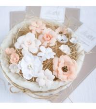 Набор цветов  Рastel flowers, цвет персиковый,арт. МП0002