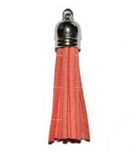 Декоративная кисточка из искусственной замши, розовая, KA106029