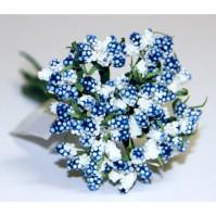 Декоративный букетик темно-голубой, DKB028H
