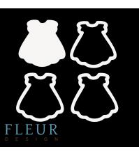 Заготовка для шейкера Платье маленькая, от FLEUR design, FD1531042