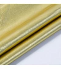 Кожзам с эффектом металлик, цвет золото, KA400409
