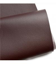 Кожзам на тканевой основе, темно-коричневый, арт. KA410313