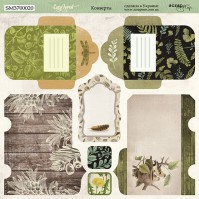 Лист двусторонней бумаги для скрапбукинга Конверты (RU), коллекция Cozy Forest, SM3700020