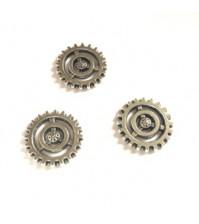 Металлическое украшение Шестеренка, цвет серебро, KA100107