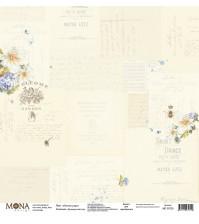 Односторонний лист Летнее утро, коллекция Французский сад, MD30720