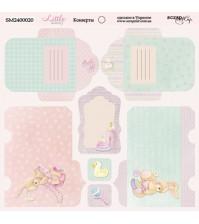 Лист двусторонней бумаги Конверты Little Bunny, SM2400020