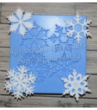 Молд Набор снежинок, ARTMD0048