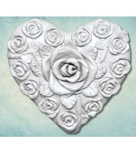 Молд Сердце в розах большой, арт. ARTMD0631