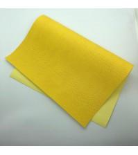 Кожзам с тиснением под питона, цвет желтый, арт. 411149