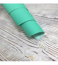 Кожзам (экокожа) на полиуретановой основе мятный матовый, арт. 411564