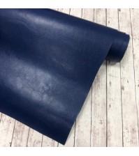 Кожзам (экокожа) на полиуретановой основе, синий, арт. SC410006