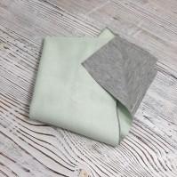 Искусственная замша на тонком трикотаже, цвет мятный, арт. 402696