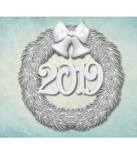 Молд Венок 2019 малый, арт. ARTMD0646