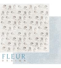 Лист бумаги для скрапбукинга Моменты, коллекция Наш малыш Мальчик, арт. FD1004057