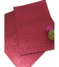 Глиттерный фоамиран цвет красный, H025