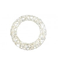 Декоративный венок круглый с глиттером, арт. SCB370220