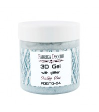 3D gel с глиттером Shabby blue, арт. FDTPG-04