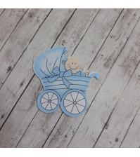 Деревянная фигурка Малыш в коляске, арт. 22370