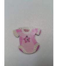 Декоративная пуговка Бодик, цвет розовый, арт.  KA105573