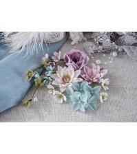 Набор цветов Цветочный блюз от Pastel Flowers, фиолетовый, арт. БФ0004