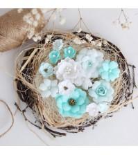 Набор цветов  Рastel flowers, цвет мятный,арт. ММ0002