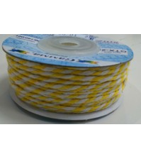 Шнур бечевка, цвет желто-белый, GTX-25-140-001