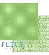 Лист бумаги для скрапбукинга Светлая Зелень, коллекция Шебби Шик Базовая, арт. FD1000324