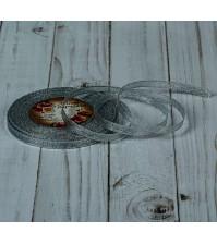 Лента парчовая, ширина 6мм, цвет серебряный, арт. 2611730