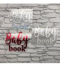Надпись из термотрансферной пленки Baby book, арт.SC502049