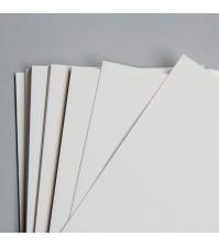 Картон белый односторонний, размер 30х30 см, толщина 1 мм, SC5005-3030