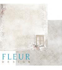 Лист бумаги для скрапбукинга Зимний домик, коллекция Шале, арт. FD1003001
