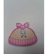 Декоративная пуговка Шапочка, цвет розовый, арт.  KA105560